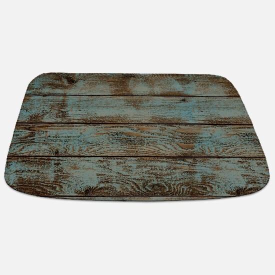 rustic western turquoise barn wood Bathmat