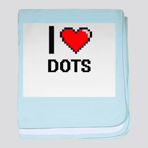 I love Dots baby blanket