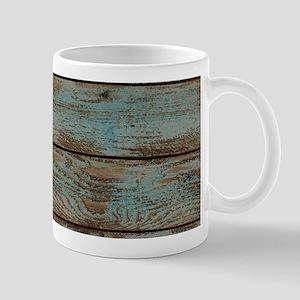 rustic western turquoise barn wood Mugs
