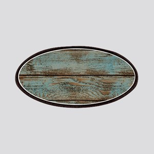 rustic western turquoise barn wood Patch
