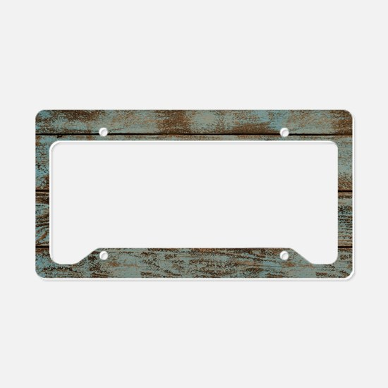 rustic western turquoise barn License Plate Holder