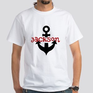 Personalized Cruise Anchor White T-Shirt