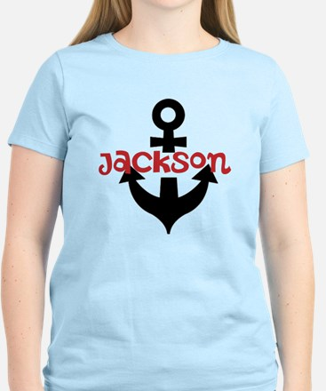 Personalized Cruise Anchor Women's Light T-Shirt