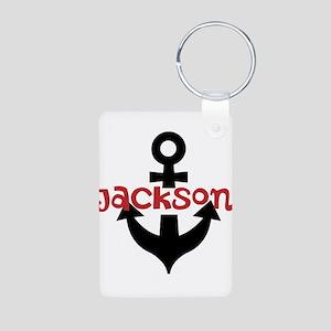 Personalized Cruise Anchor Aluminum Photo Keychain