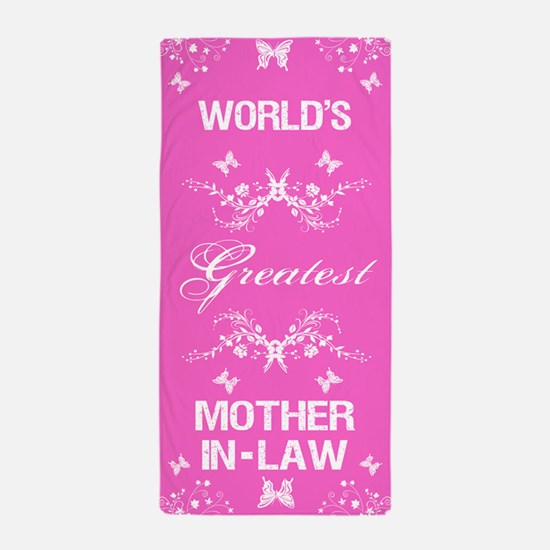 World's Greatest Mother-In-Law Beach Towel