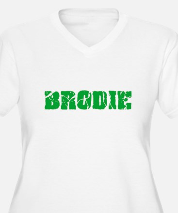 Brodie Name Weathered Green Desi Plus Size T-Shirt