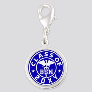 Class of 20?? Nursing Silver Round Charm