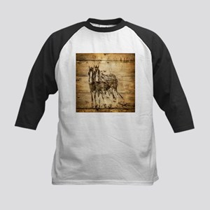 western country farm horse Baseball Jersey