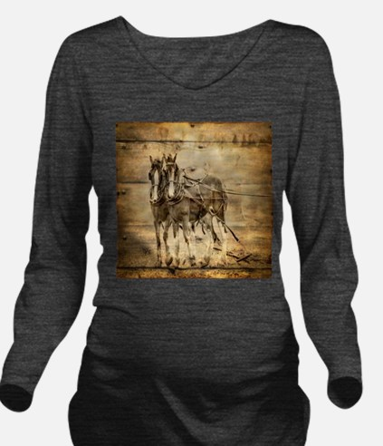 western country farm Long Sleeve Maternity T-Shirt