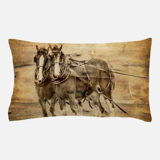 western country farm horse Pillow Case