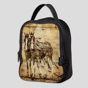 western country farm horse Neoprene Lunch Bag