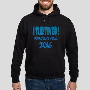 Custom I Survived Hoodie (dark)