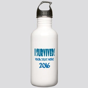 Custom I Survived Stainless Water Bottle 1.0L