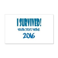 Custom I Survived Wall Decal