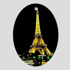 La Tour Eiffel Ornament (Oval)
