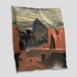 Awesome temple Burlap Throw Pillow