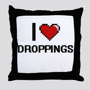 I love Droppings Throw Pillow