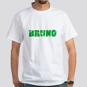 Bruno Name Weathered Green Design T-Shirt