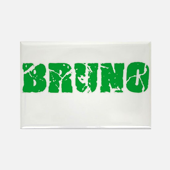 Bruno Name Weathered Green Design Magnets