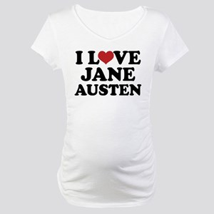 I Love Jane Austen Maternity T-Shirt