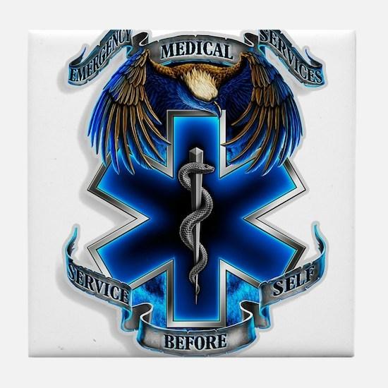 Emergency Medical Service Tile Coaster