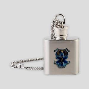 Emergency Medical Service Flask Necklace