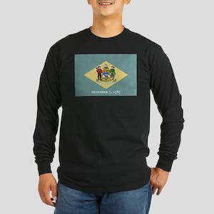 Delaware State Flag Long Sleeve T-Shirt