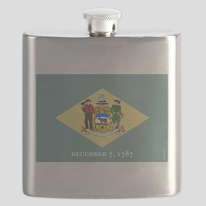 Delaware State Flag Flask