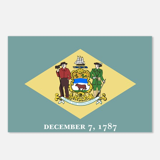 Delaware State Flag Postcards (Package of 8)