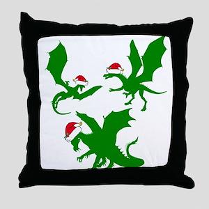 Dragon Christmas Throw Pillow