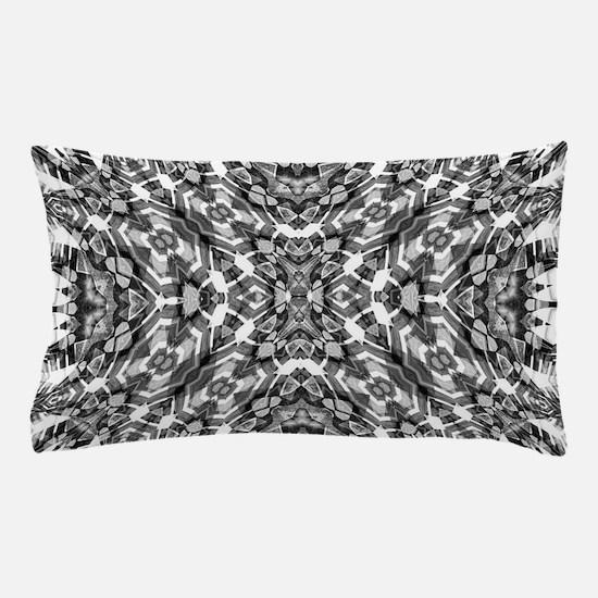 Tribal Shaman DMT Black White Pillow Case