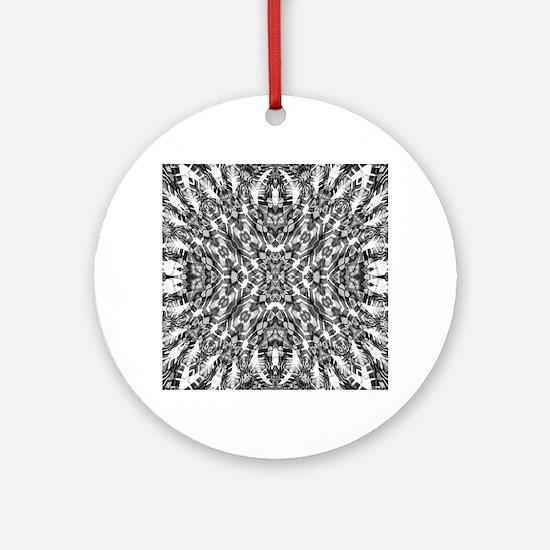 Tribal Shaman DMT Black White Ornament (Round)