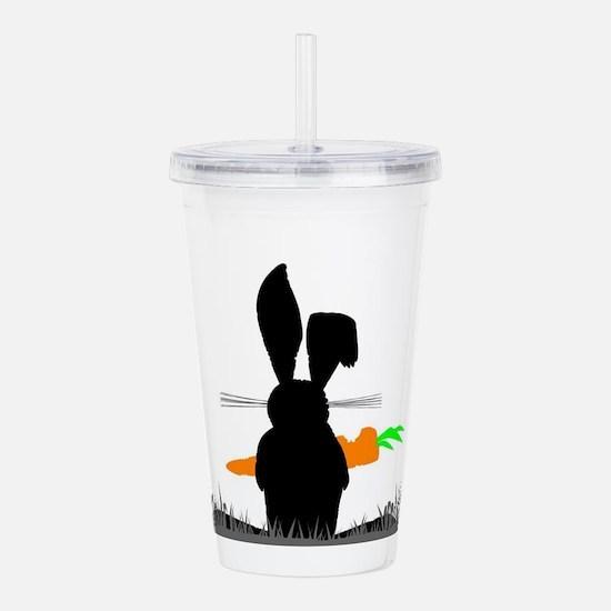 Rabbit Eating A Carrot Acrylic Double-wall Tumbler