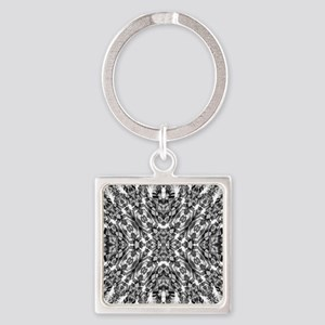 Tribal Shaman DMT Black White Keychains