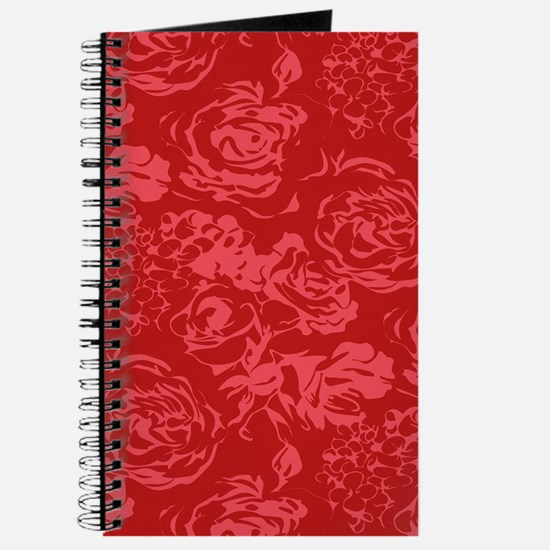 Red Floral Pattern Journal