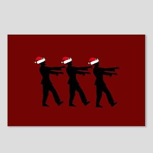Zombie Christmas Santas Postcards (Package of 8)