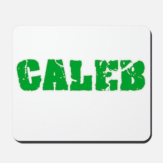 Caleb Name Weathered Green Design Mousepad