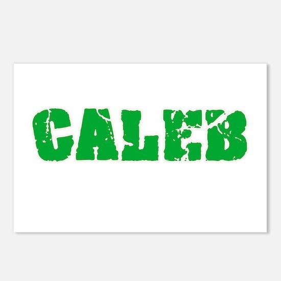 Caleb Name Weathered Gree Postcards (Package of 8)