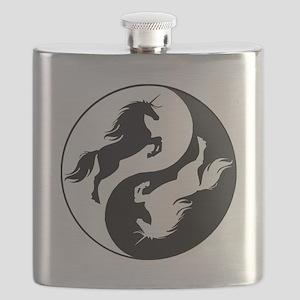 Yin Yang Unicorn Flask