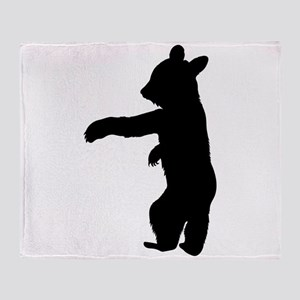 Bear Cub Silhouette Throw Blanket