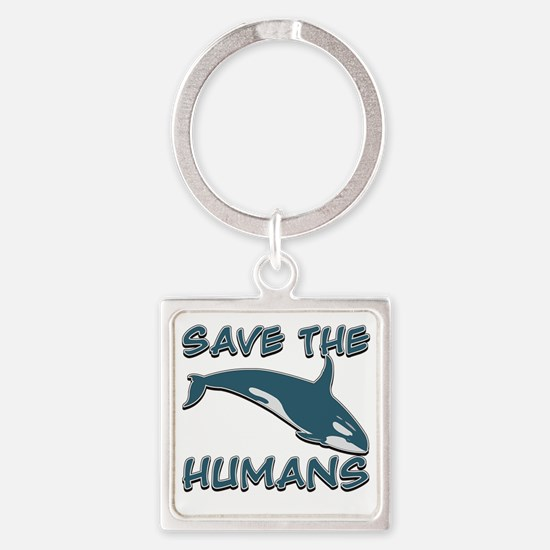 Save the Humans Square Keychain