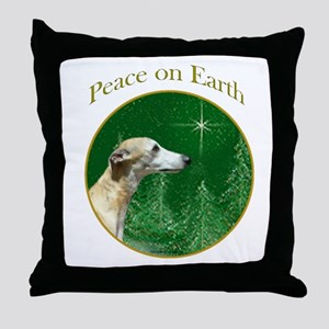 Whippet Peace Throw Pillow