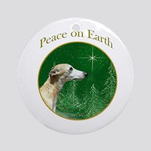 Whippet Peace Ornament (Round)