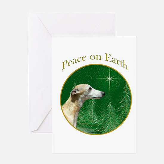 Whippet Peace Greeting Card