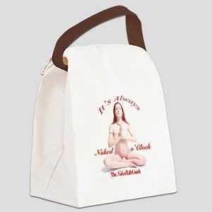 It's Always Naked o'Clock Canvas Lunch Bag
