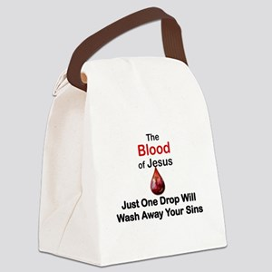 THE BLOOD OF JESUS, JUST ONE DROP Canvas Lunch Bag