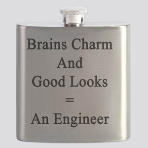 Brains Charm And Good Looks = An Engineer  Flask