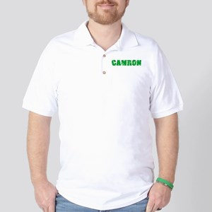 Camron Name Weathered Green Design Golf Shirt