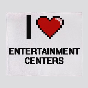 I love ENTERTAINMENT CENTERS Throw Blanket