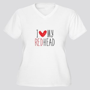 I Love My Red Head Plus Size T-Shirt